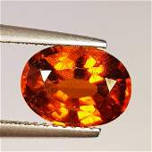 Natural Hessonite Garnet Oval Cut 3.33 ct