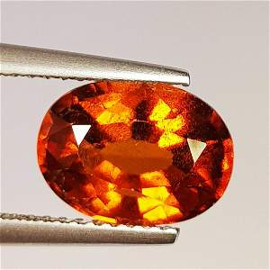 Natural Hessonite Garnet Oval Cut 3.33 ct