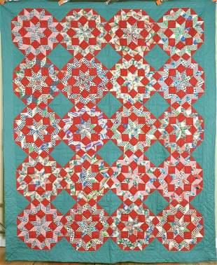 30's Carpenter's Wheel Stars Quilt