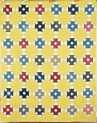 1880's Churn Dash Quilt