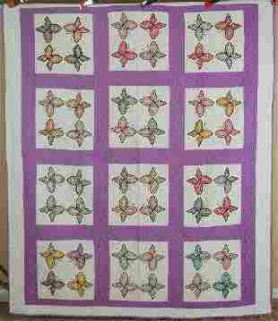 30's Butterfly Applique Quilt