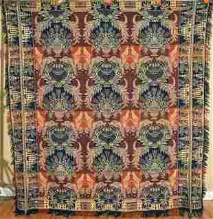 Jacquard Coverlet c. 1850, Elaborate Design