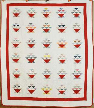 """Vibrant 30's Baskets """"Cake Stand"""" Quilt"""
