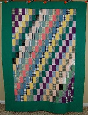 40's Straight Furrows Quilt