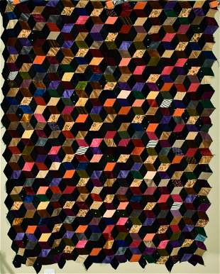 1920's Tumbling Blocks Quilt Top