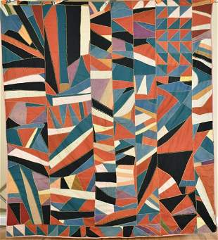 1910's Crazy Quilt, Abstract Design