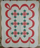 Matched Pair of Rose of Sharon Applique Quilt