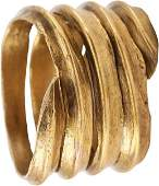 FINE VIKING COIL RING 850-1050 AD SIZE 10-10 ¼