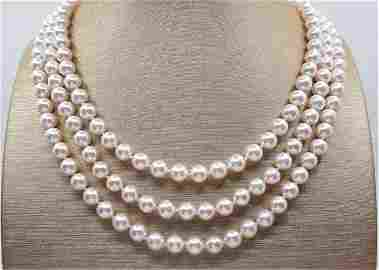 Top Grade AAA Qualiy 6.5x7mm Akoya Pearls - 14 kt.