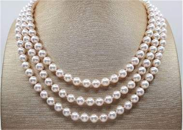 Top Grade AAA Qualiy 6.5x7mm Akoya Pearls - 14 kt.