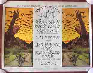 """Chuck Berry at Fillmore (1970) 22"""" x 28"""" US Concert"""