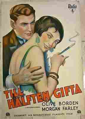 Half Marriage (1929) Swedish Movie Poster