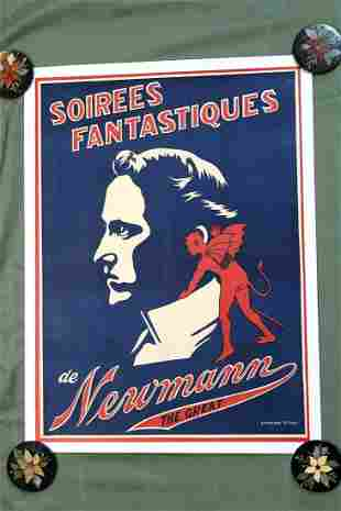 """Soirees Fantastiques - Newman The Great (1914) 28"""" x"""