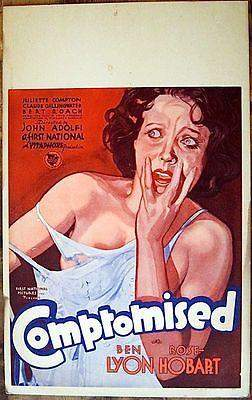 Compromised - Pre-Code (1931) US Window Card Movie