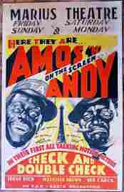 Amos 'n Andy - Check and Double Check (1930) US Window