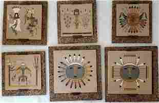 Wilson Price Navajo Sand Painting - Lot of 6