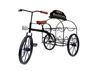 Original wine rack in the shape of a tricycle