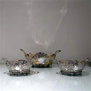 Early 20th Century Edwardian Sterling Silver Suite