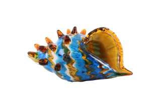 A murano glass conch shell - Tropical beach decor