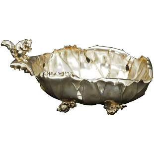 Victorian Silverplate Squirrel Nut Bowl by Pairpoint