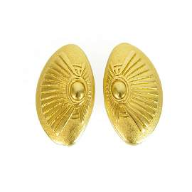 ILIAS LALAOUNIS vintage Oval Sunrise 18K yellow Gold