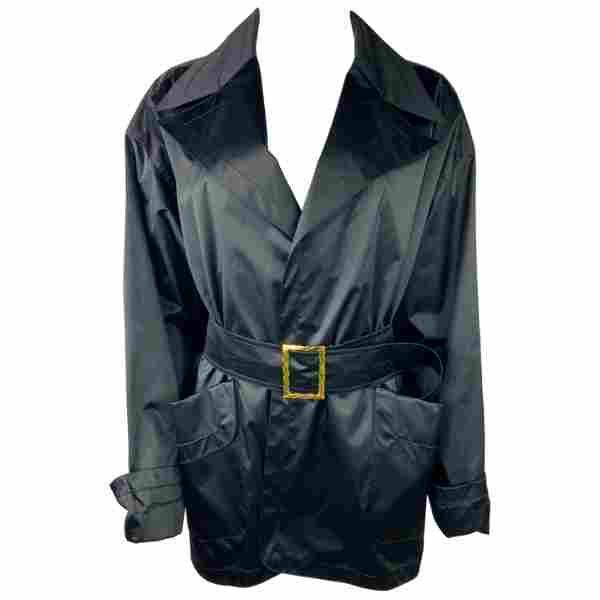 Vintage Chanel Boutique Navy Raincoat Jacket, Size