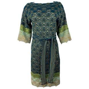 Missoni Multi Color Knit Mini Dress w/ Belt