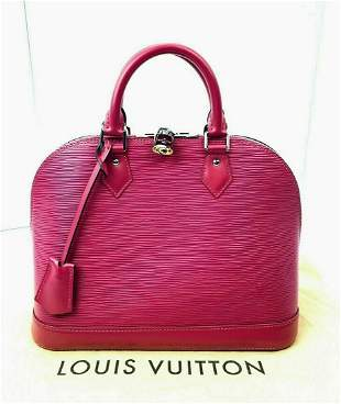 Louis Vuitton ALMA PM Hot Pink Epi Leather Hand Bag