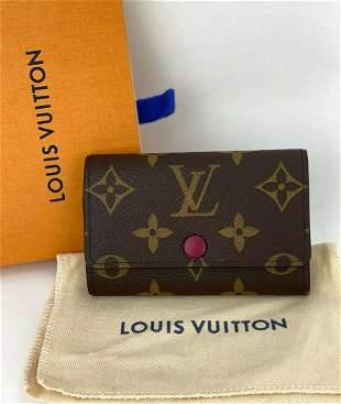Authentic Louis Vuitton 6 Key Holder Monogram Canvas