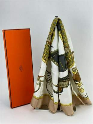 Hermes Scarf Silk Les Voitures A Transformation