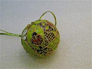 """Cloisonne Lady Bug, Bee & Floral Ball Pendant -1.5"""""""