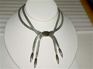 Vintage Silver Tone Monet Choker With Adjustable