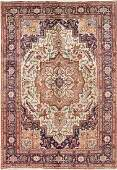 One-of-a-Kind Antique Heriz Serapi Persian Hand-Knotted