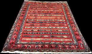A Vintage Tribal Persian Soimak Flat Weave Rugh