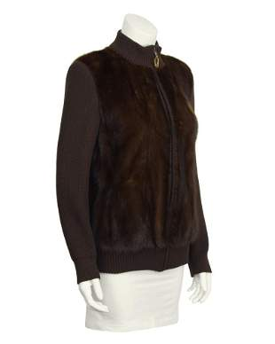 Anonymous Brown Mink Bomber Jacket