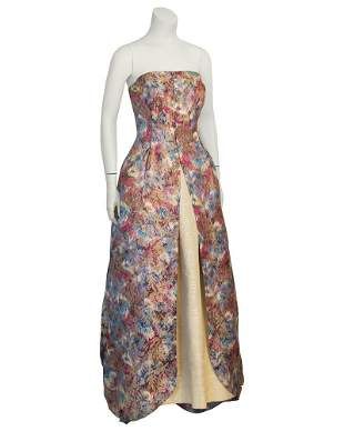 Anonymous Floral Parisian Ball Gown