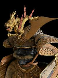 Japanese Samurai armor Gensei -Suji end of the Edo