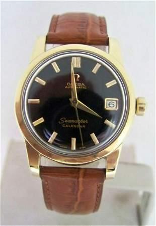 Vintage 14k Gold Cap OMEGA SEAMASTER CALENDAR Automatic