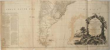 1779 Sayer Map of South America' Southern Portion -- A