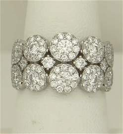 LADIES 585 14k WHITE GOLD 2.00ct ROUND DIAMOND WIDE