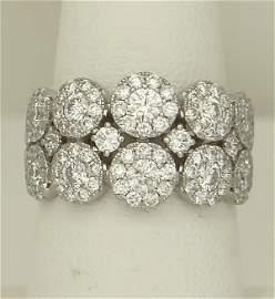 LADIES 585 14k WHITE GOLD 2.00ct ROUND DIAMOND WIDE