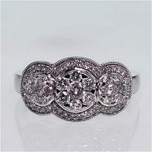 Mirage Collection White Diamond Ring .75ct TGW