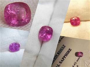 Bi-Color Hot Pink Sapphire, premium cut, 1.475 ct