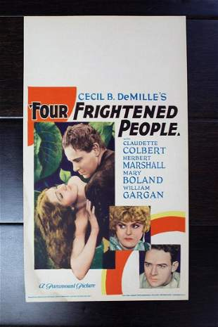 """Four Frightened People (1934) 14"""" x 8"""" Mini Lobby Card"""