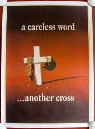 A CARELESS WORD...ANOTHER CROSS - ORIGINAL 1943 WWII LB