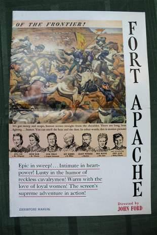 "Fort Apache (USA, 1948) 16"" x 11"" US Exhibitors Manual"