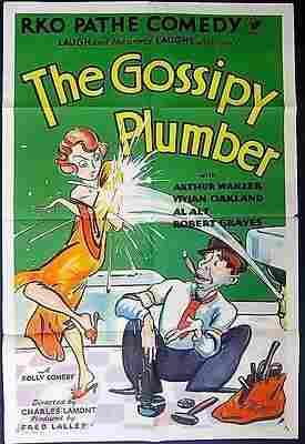REDUCED $300 GOSSIPY PLUMBER 1930 1 SH POSTER ~