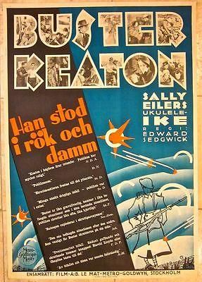 DISCOUNT 80! 1930 SWEDISH POSTER - AMAZING RARE BUSTER