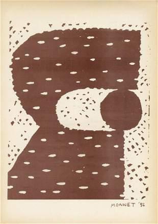 Gianni Monnet original lithograph   Arte Concreta