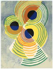 "Robert Delaunay lithograph ""Rythmes sans fin"""